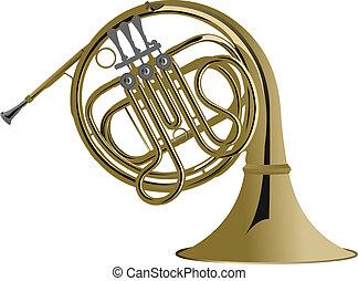 instrument, vecteur, series., il, musique