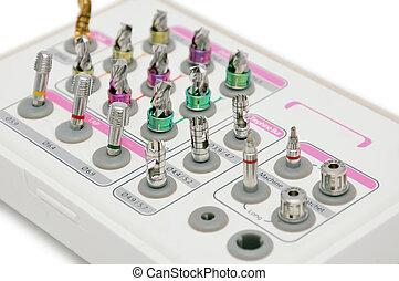 instrument, voor, dentaal, implantology