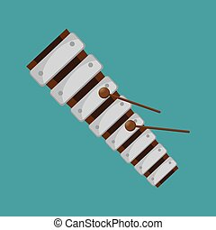 instrument, xylofoon, grafisch, muziek, folk-music