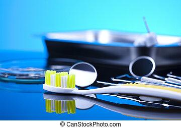 instrumente, nahaufnahme, dental