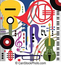 instrumenten, abstract, muzikalisch