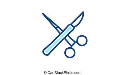 instrumenten, chirurg, pictogram