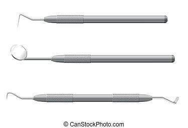 instrumenten, dentaal, vector