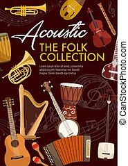 instrumenten, muziek, muzikalisch, folk-music, akoestisch
