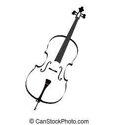 instrumento, aislado, musical
