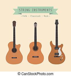 instrumento, cuerda