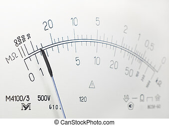 instrumento de medición, escala, resistencia, aislamiento