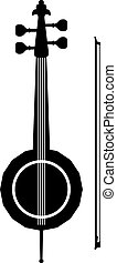 instrumento, kamanche, musical