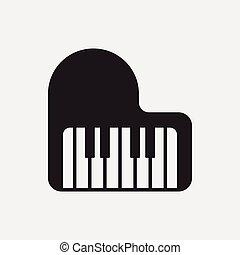 instrumento, musical, icono