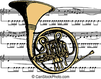 instrumento, musical, tuba