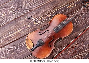 instrumento stringed, de, orchestra.