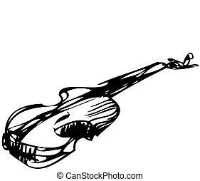 instrumento stringed, orquestra, musical, violino