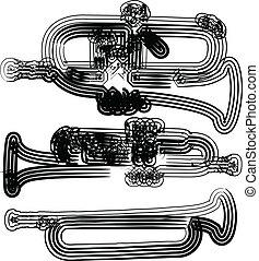 instrumento, vector, música, ilustración
