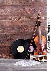 instrumentos, cópia, jogo, musical, space.
