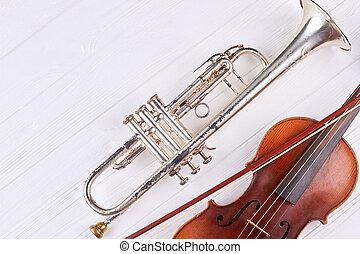 instrumentos, de, orquestra, e, cópia, space.