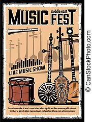 instrumentos, fiesta, musical, este, medio, música