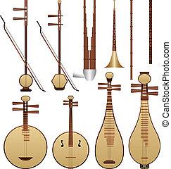 instrumentos, música, chino