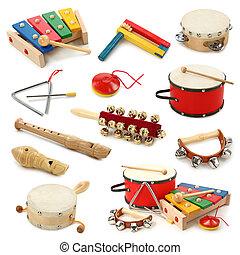 instrumentos, musical, colección