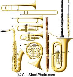 instrumentos, vento