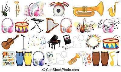 instrumentować, komplet, muzyczny