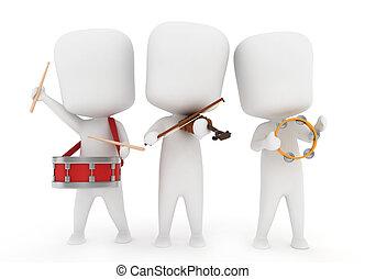 instrumentować, muzyczny, preschool