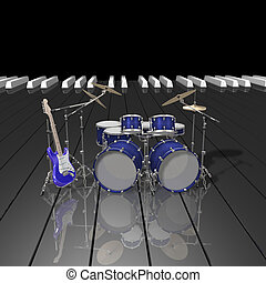 instrumentować, muzyka, muzyczny, rusztowanie