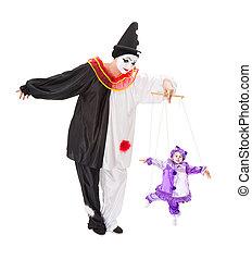 instruments à cordes, clown