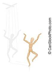instruments à cordes, piégé, marionnette, ombre, ...