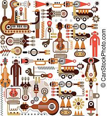 instruments, fabrication, musique
