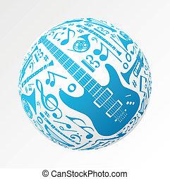 instruments, forme, musique, babiole