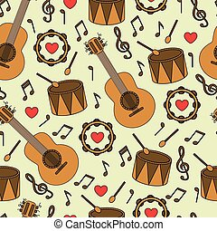 instruments, musical, fond