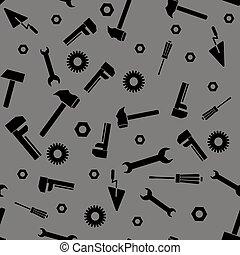 Instruments Silhouette Seamless Pattern