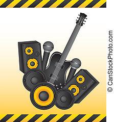 instruments, vecteur