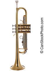 instument, trompet, muzikalisch