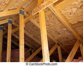 Insulated attic from trusses - Attic formed by trusses, OSB...