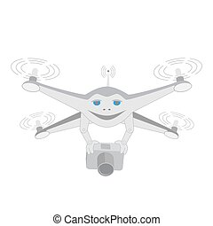Insulated. Drone with camera - Drone with a video camera....