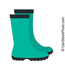 Insulated Rubber Boots Icon Vector Illustration