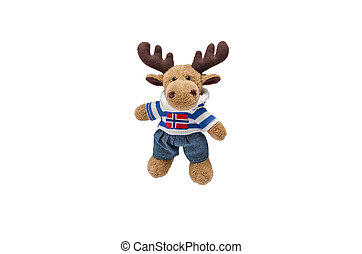 Insulated soft toy deer