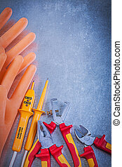 Insulating rubber gloves insulated wire strippers electrical...