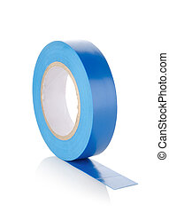 Insulating tape - Roll of insulating tape isolated on a ...