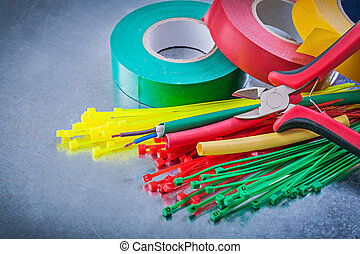Insulating tapes plastic cable ties electric wires cutting plier