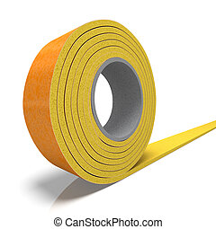 Insulation tape - 3D rendering of a roll of insulation tape