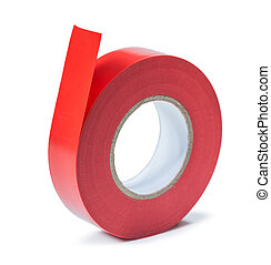 insulation tape roll isolated on white