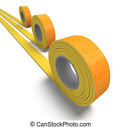 Insulation tape trio - 3D rendering of a roll of insulation ...