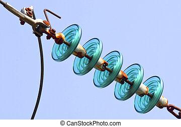 insulators, cable de energía eléctrica