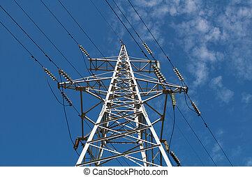 insulators, torres, fios elevados, vidro