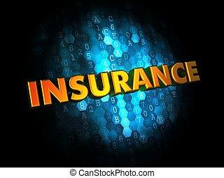 insurance., バックグラウンド。, デジタル