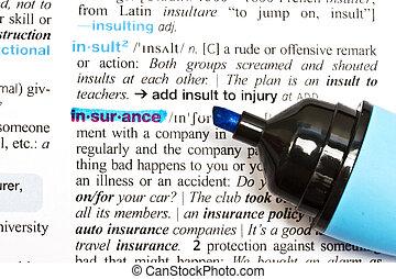 """insurance"", 単語"