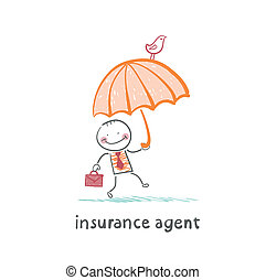 insurance agent insurance agent with umbrella