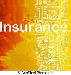 Insurance background concept - Background concept wordcloud...